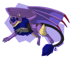 Commission - Flying Cyborg Wolf! by Gomis