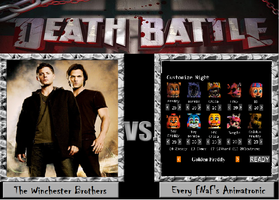 Death Battle Winchesters vs Animatronics by Gatlinggundemon9