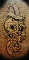 pen and ink on wood by vankuilenburg