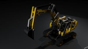 Lego 8419 Excavator by Ineray