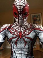 Red and White Spiderman costume by Iracel
