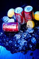 Coca Cola on Blue 2 by Ay4nami-R3i