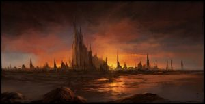 Sunset Castle by ChrisCold