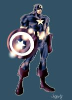 Captain America character design by Jonboy007007