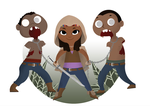 Michonne and Friends by Indy-Lytle
