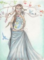 Gaia the mother by SandraChapdelaine