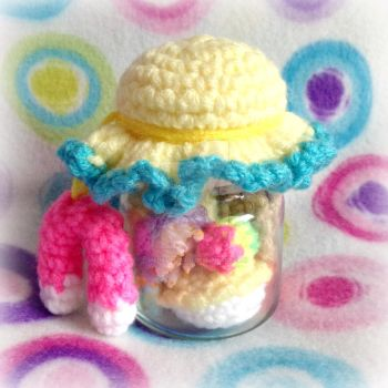 Toontown Gag Jar (Amigurumi) by MadameWario