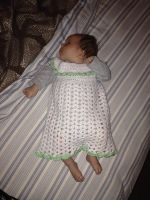 Green and White Baby Dress by Hermioneann