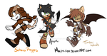 Adopted characters batch 1 by Moley-Fox