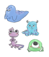 BABY MONSTERS by maybelletea