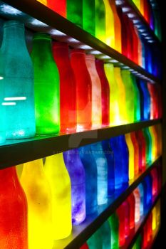 coloured bottles by Loxxley