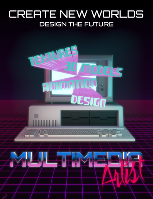 Multimedia Artists Poster (80s Inspired) by discopears