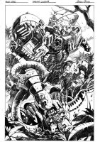 Beast Wars 3 cover pencils by GuidoGuidi