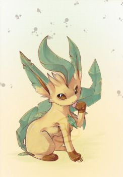 pokemon leafeon by tikopets