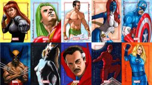 Marvel 70th sketch cards set 1 by artguyNJ