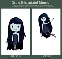 Meme:Before and after by Rainbowishgirl
