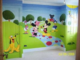 Mickey's Clubhouse by BogusTheMuralist