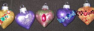 Glass Christmas Ornaments by LadyoftheApocalypse