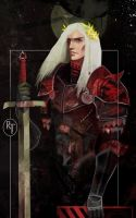 Tarot card of Rhaegar Targaryen by MiyaAshina