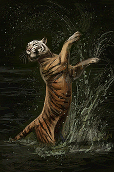 Dancing Tiger by Maquenda