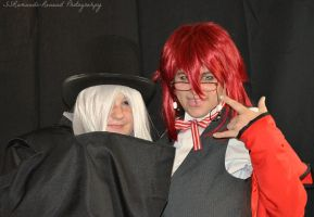 Cosplay - Undertaker and Grell by SammehChu