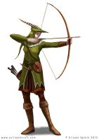 Huntress RPG character design by Colin-Ashcroft