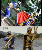 golden-blue sixth rangers, coincidence? by keytaros