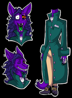 Sly C. - Faust's Ref. Sheet by KaylaTheDragoness