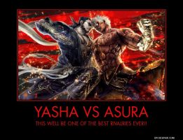 Yasha vs Asura by saintsrow95