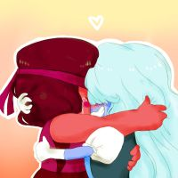 Ruby and Sapphire by Luxjii