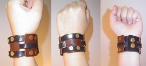 leather cuff by KaieA