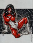 SpiderWoman greytone sketch by gb2k