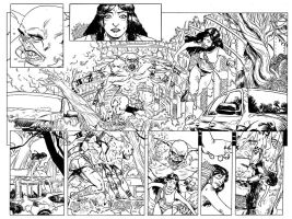 Hinterkind 2nd issue doublespread by FrancescoTrifogli