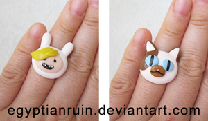 Fionna and Cake Rings by egyptianruin