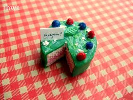 Miniature Bonjour Cake by MusicRains