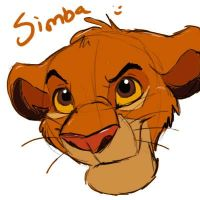 just a simba sketch by melted-gummy-bears