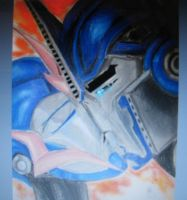 Optimus and Arcee kiss by blondecomicartist
