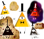Bill Cipher Art Dump by Wingscanspeak