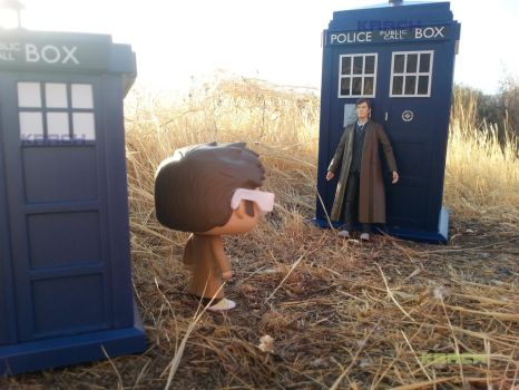 Funko Pop (Doctor Who ) #3: Two dimensions... by KrachArt
