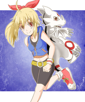 Best Partner Hiiro and Baomon by ashflura