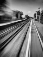 Man Waiting For A Train by Bazz-photography
