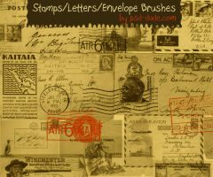 Stamp and Letter Brushes by PsdDude