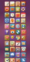 5 O'clock Shades Icon Set by PixelKitCom