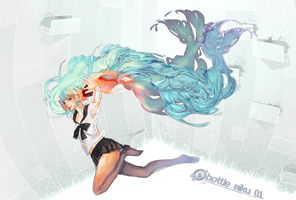 bottle miku by catne