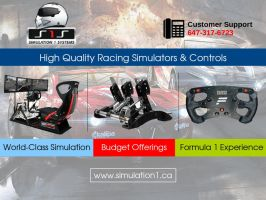 Realistic Racing Games Simulators and Controls by simulation1systems