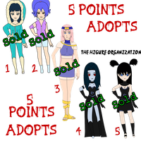 5 Points Naruto Adoptables ::CLOSED:: by seashellskeeper