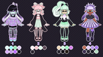 Pastel Goth Inkling Adoptables CLOSED by Ghiraham-Sandwich