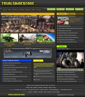 TotalGamerZone Website Layout by orangeillini14