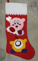 Giant Kirby and Waddle Doo Stocking by MeMiMouse