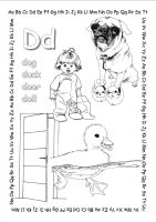 alphabet coloring pages Dd copy by jbeverlygreene
